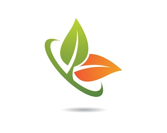Ilustracja zielony liść symbol