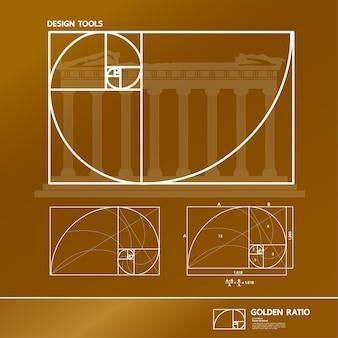 Ilustracja złotego podziału