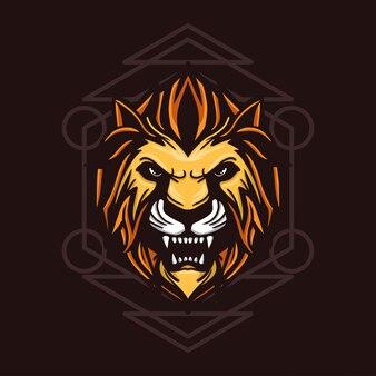 Ilustracja zły lew