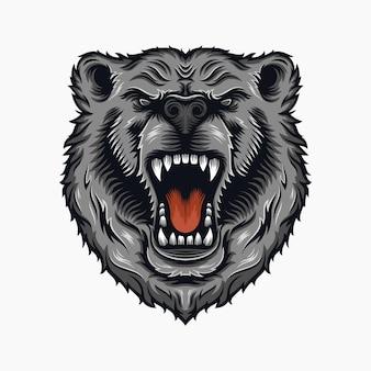 Ilustracja zły niedźwiedź
