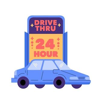 Ilustracja znak przejazdu