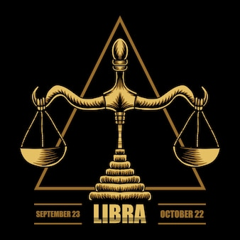 Ilustracja zodiaku waga