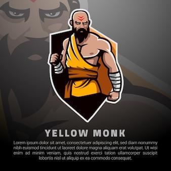 Ilustracja żółty mnich