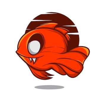 Ilustracja zombie fish