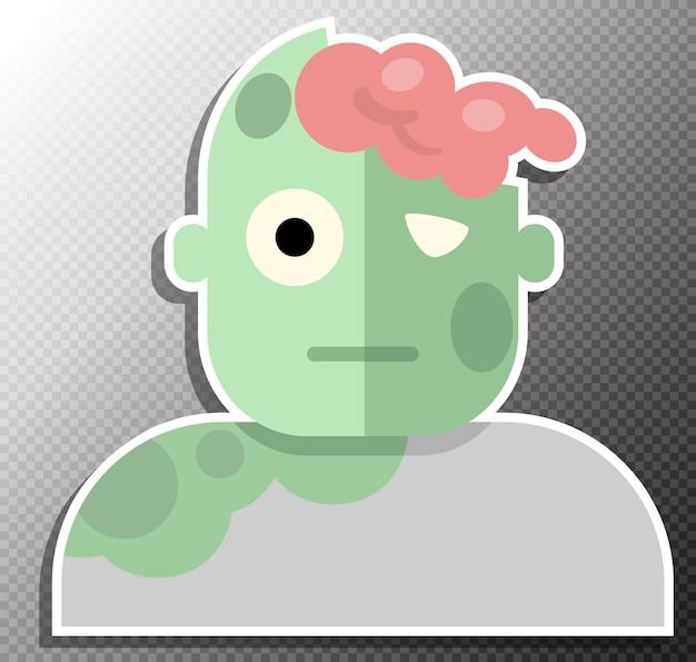 Ilustracja zombie w stylu płaskiej