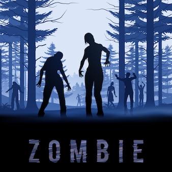 Ilustracja zombie