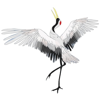 Ilustracja żurawia