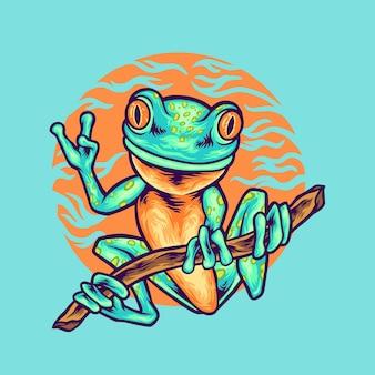 Ilustracja zwierząt żaba