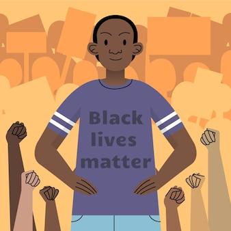 Ilustracja życia Czarnego Ma Znaczenie Darmowych Wektorów