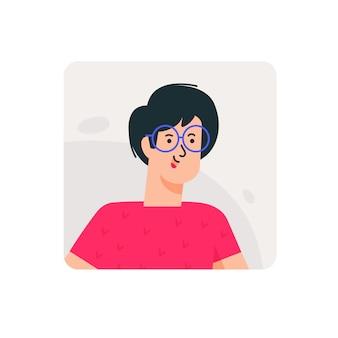 Ilustracje awatary mężczyzn w okularach.
