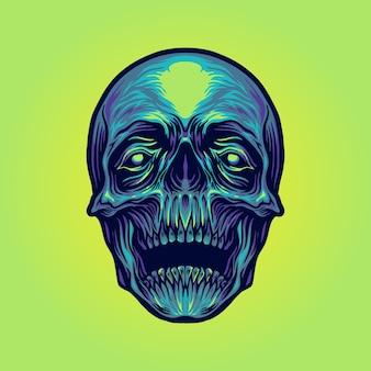 Ilustracje czaszki cukru głowy
