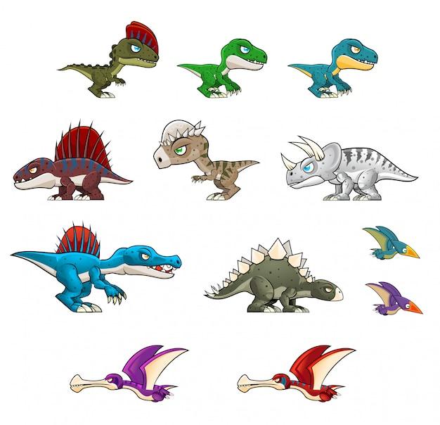 Ilustracje dinozaurów