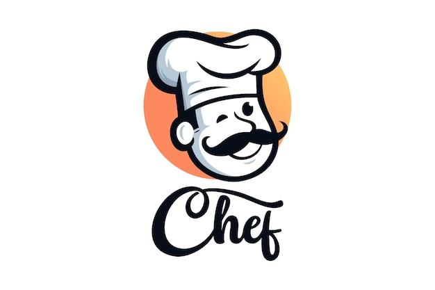 Ilustracje do projektowania logo restauracji szefa kuchni