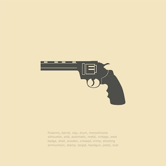 Ilustracje ikon broni