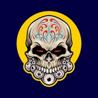 Ilustracje meksykańska czaszka cukru dia de los muertos