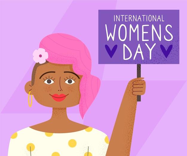 Ilustracje międzynarodowego dnia kobiet