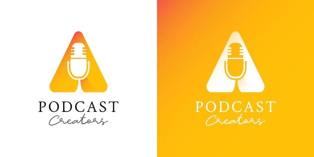 Ilustracje podcastu szablon projektu logo kanału wideo