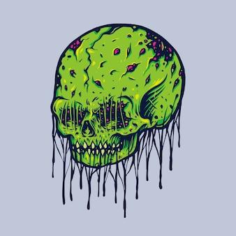 Ilustracje potwora czaszki