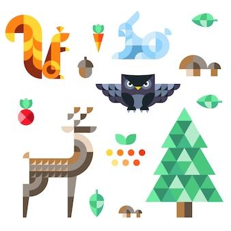 Ilustracje projektu lasu leśnego