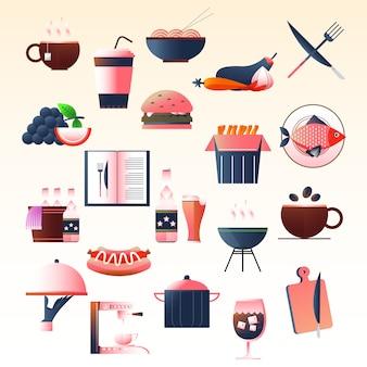 Ilustracje restauracji