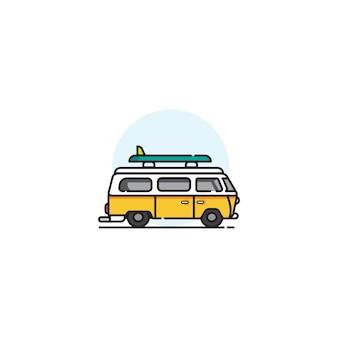 Ilustracje samochodów van