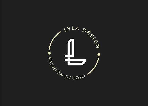 Ilustracje szablonu projektu logo litery l