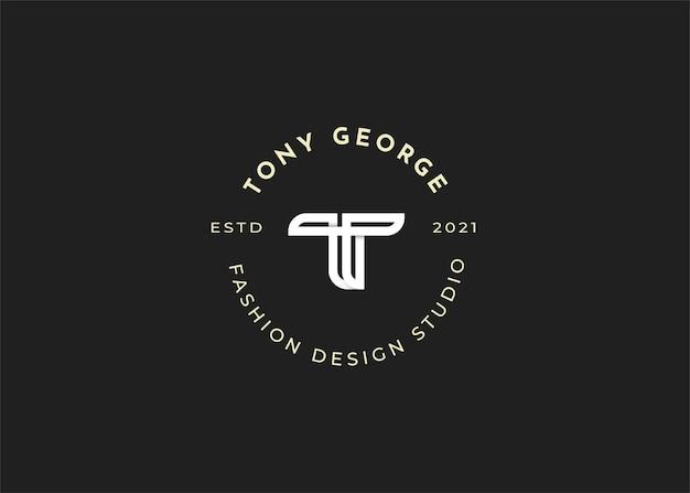 Ilustracje szablonu projektu logo litery t