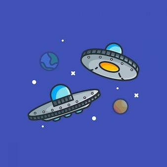 Ilustracje ufo