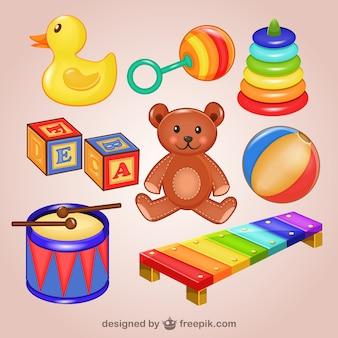Ilustracje zabawki spakować