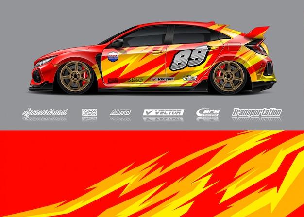 Ilustracje zawijania samochodów wyścigowych