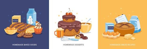 Ilustracje zestawu cukierniczego