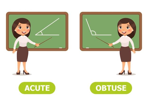 Ilustracji wektorowych antonimy i przeciwieństwa