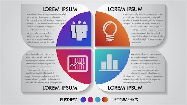 Ilustracji wektorowych biznesu infografiki 4 opcje