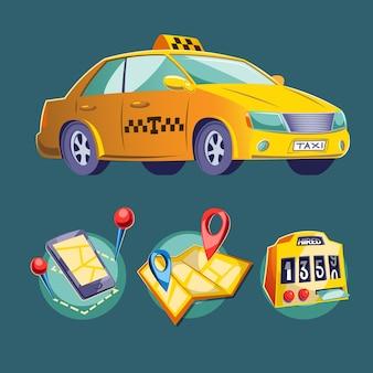 Ilustracji wektorowych kreskówek na temat miejskiego transportu drogowego.