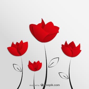 Ilustracji wektorowych kwiaty