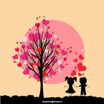 Ilustracji wektorowych miłość