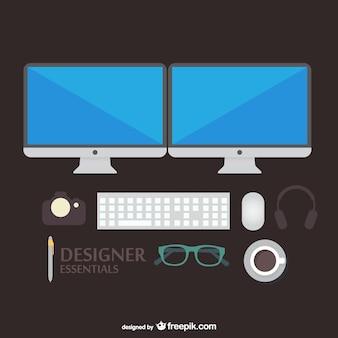 Ilustracji wektorowych narzędzi projektant