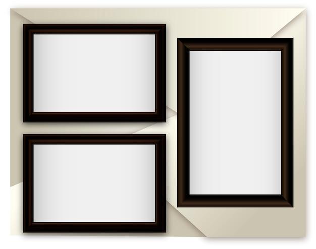 Ilustracji wektorowych realistyczne ramki na abstrakcyjnym tle