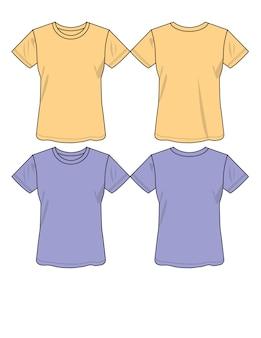 Ilustracji wektorowych t-shirt dla pani