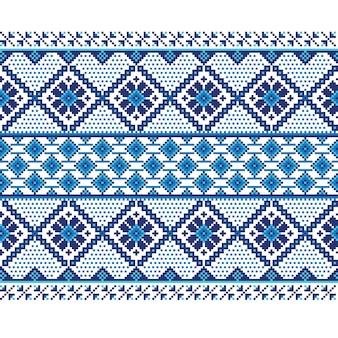 Ilustracji wektorowych ukraiński ludowy wzór bezszwowych ozdoba. ornament etniczny. element granicy. tradycyjny ukraiński, białoruski wzór haftu ludowego - vyshyvanka