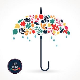 Ilustracji wektorowych z parasolem
