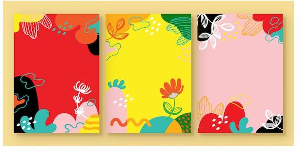 Ilustracyjna wektorowa grafika kwiatu tła set