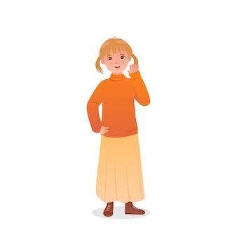 Ilustracyjny charakteru projekta mała dziewczynka
