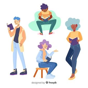 Ilustracyjny pojęcie z charakteru czytaniem