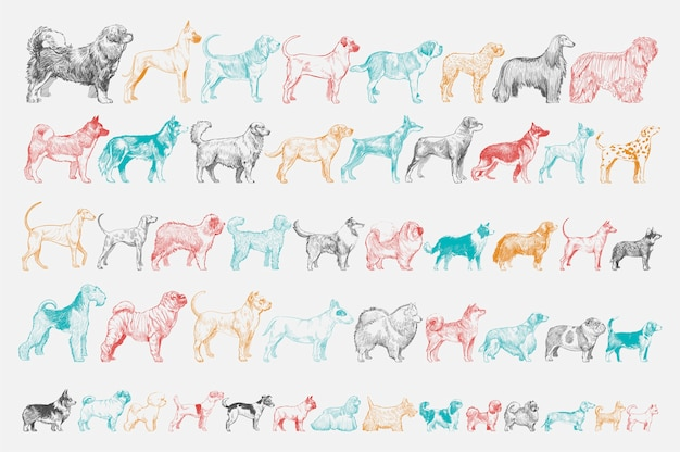 Ilustracyjny rysunku styl pies