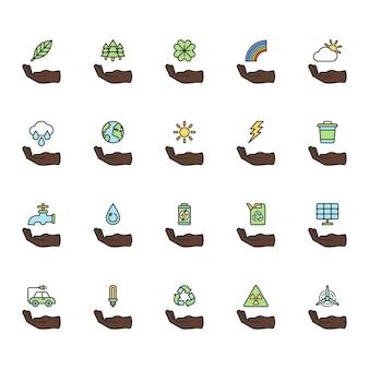 Ilustracyjny ustawiający środowiskowy wektor