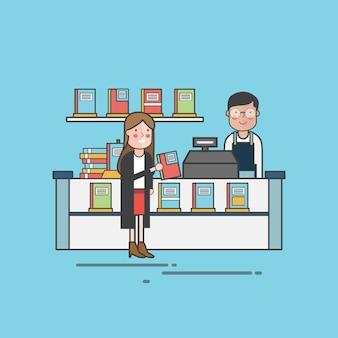 Ilustracyjny ustawiający zwierzę domowe sklep