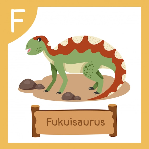 Ilustrator f dla dinozaurów fukuisaurus