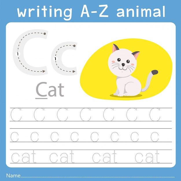 Ilustrator pisania az animal c