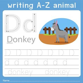 Ilustrator pisania az animal d